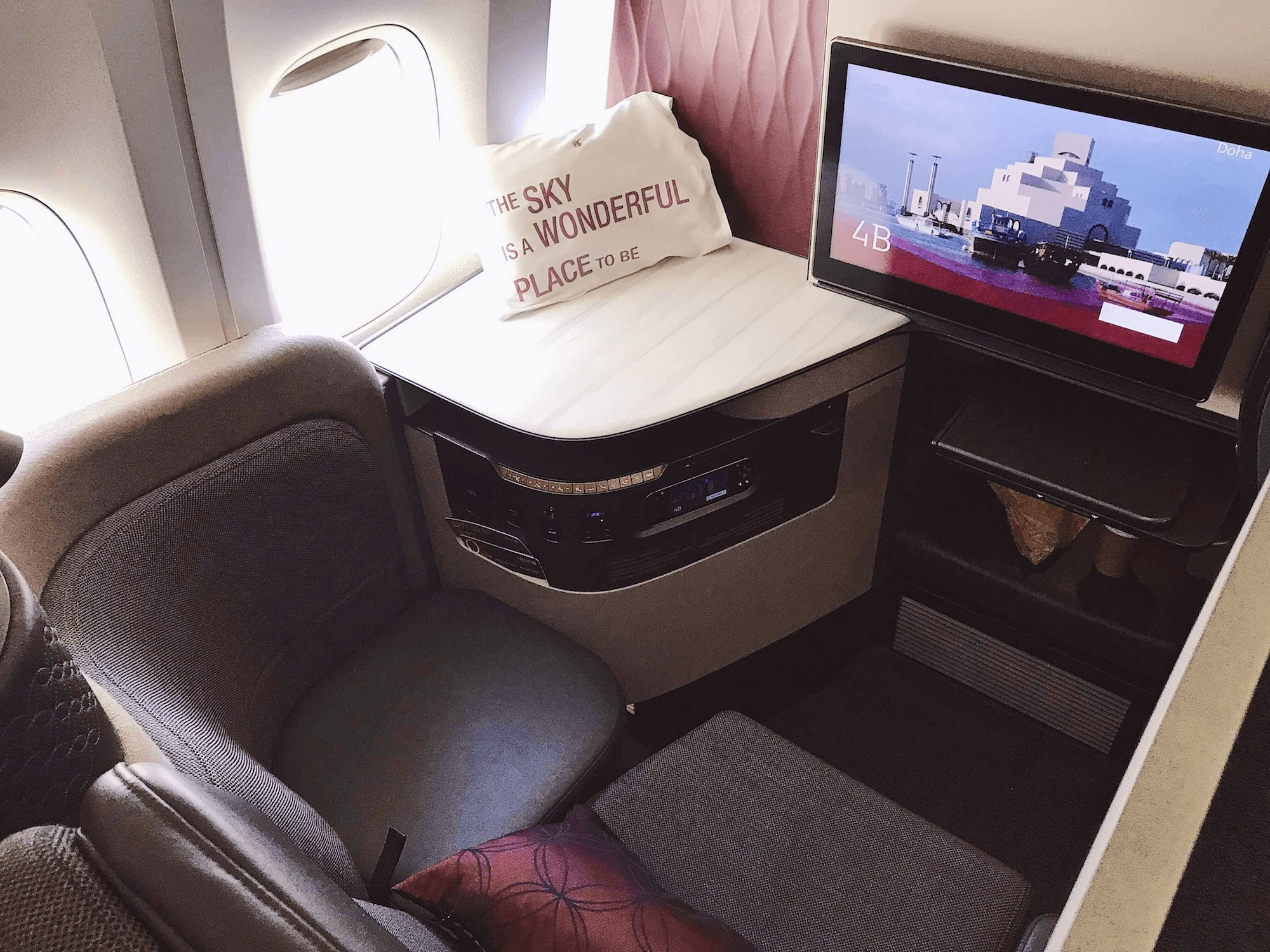 Photo of airplane cabin